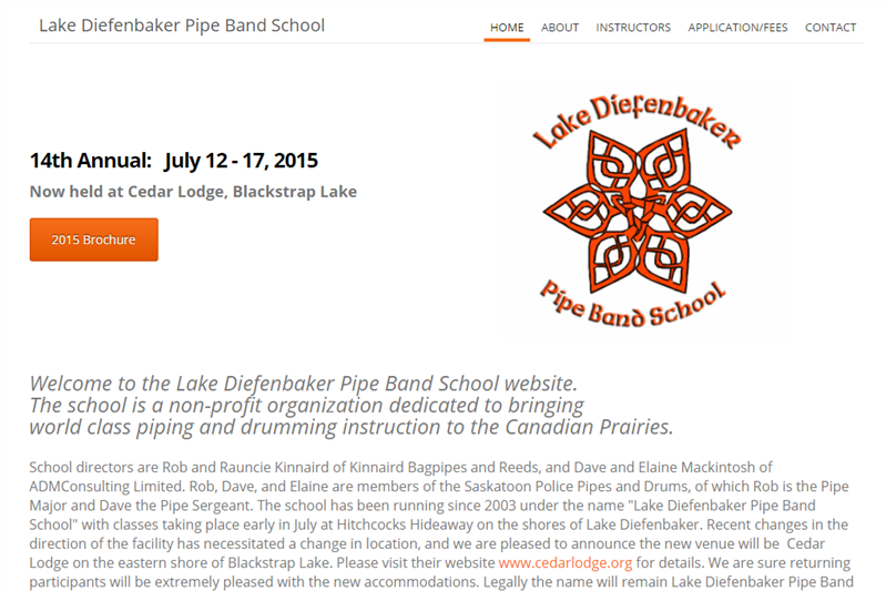 Lake Diefenbaker Pipe Band School